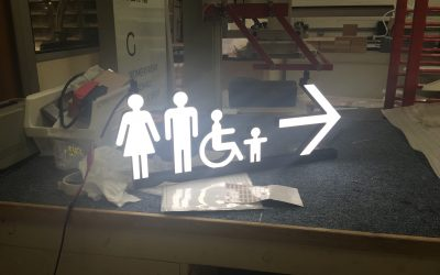 M&S Illuminated Toilet Signs