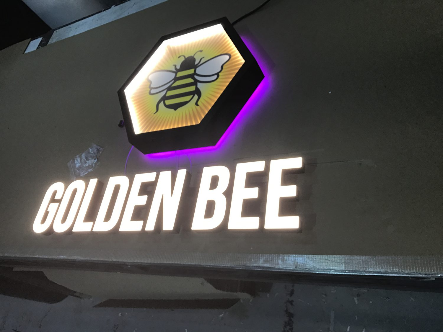 Golden Bee Illuminated Logo