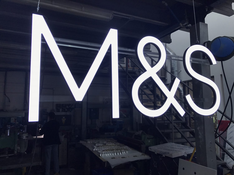 M&S Illuminated Sign