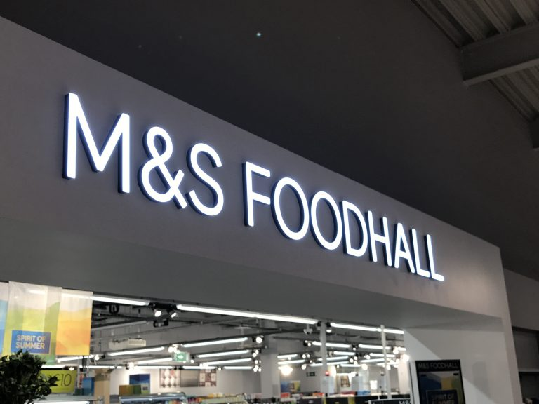 M&S LED Illuminated Sign